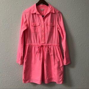 GAP fluorescent pink elastic waist dress size XS